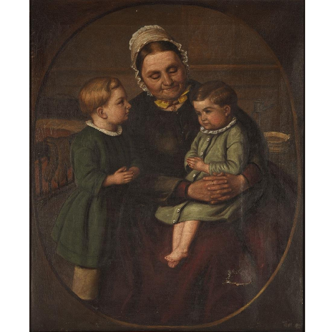 "German School  18th/19th Century ""Grandmother with"
