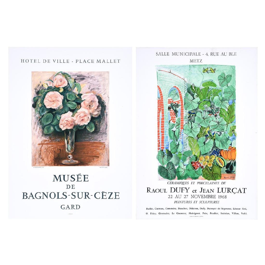 After Raoul Dufy and After Pierre Renoir lithograph