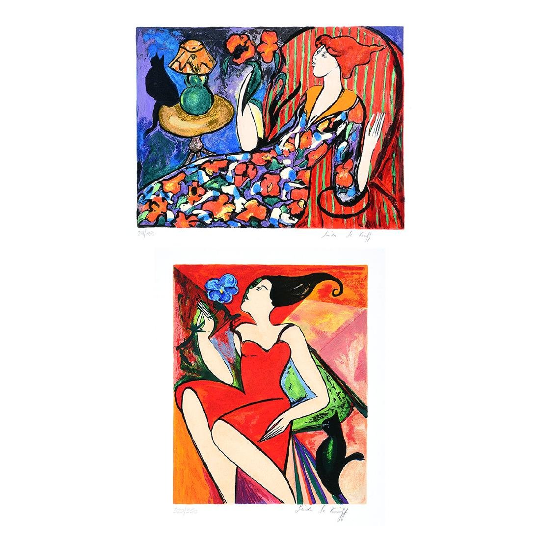 """Linda Le Kinff """"Carmen"""" and """"Seated Woman"""" two Signed"""
