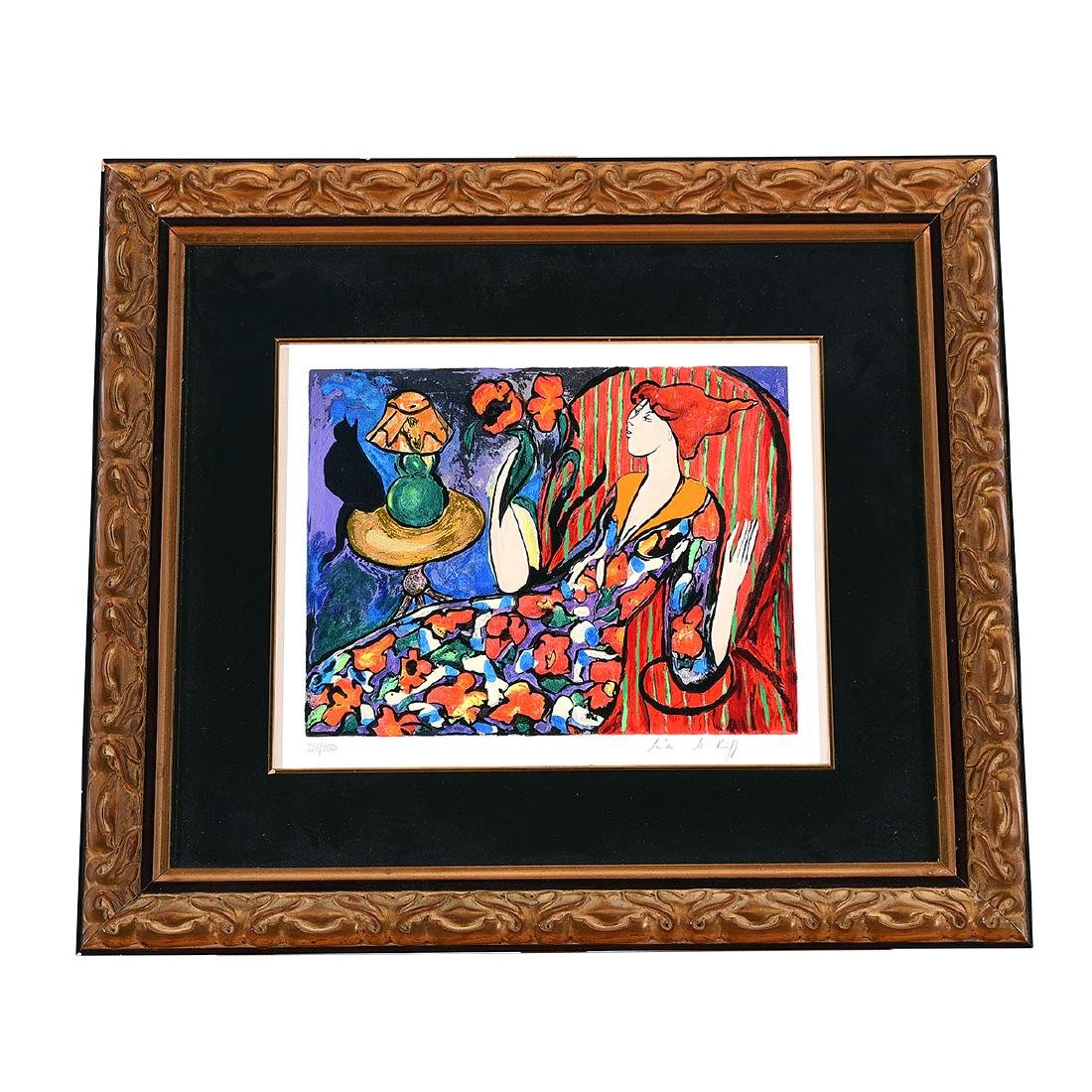 """Linda Le Kinff """"Carmen"""" and """"Seated Woman"""" two Signed - 9"""