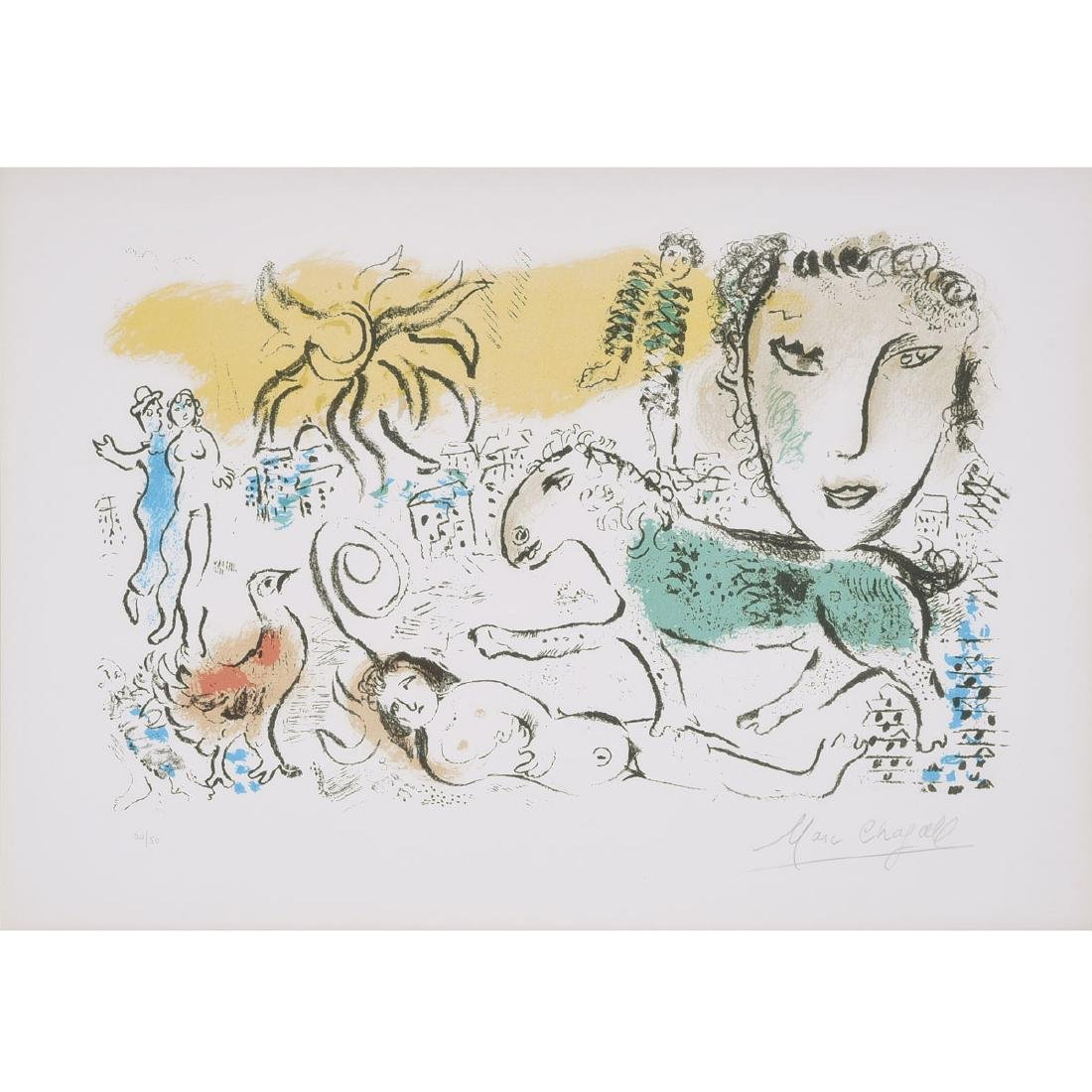 """Marc Chagall """"Untitled (from XXe SiÈcle-Chagall"""