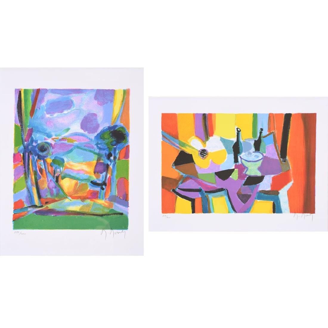 Marcel Mouly 2 color lithographs