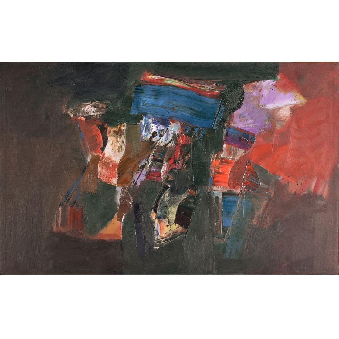 """Karl Albert Kasten """"Notturno"""" acrylic on canvas"""
