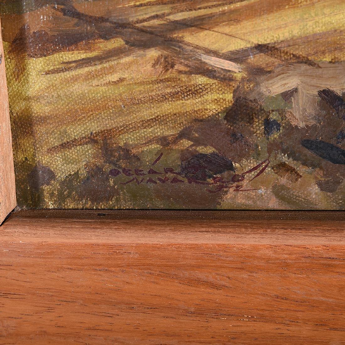 "Oscar Navarro, Filipino Art, two ""Genre Scenes"" oil on - 2"