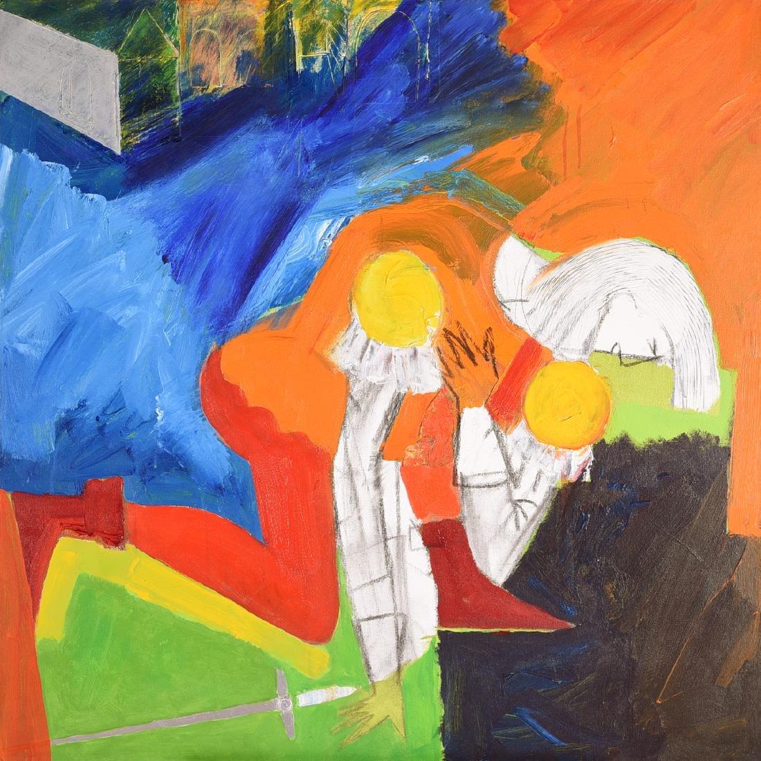 """Karl Albert Kasten """"Tybalt"""" acrylic on canvas"""