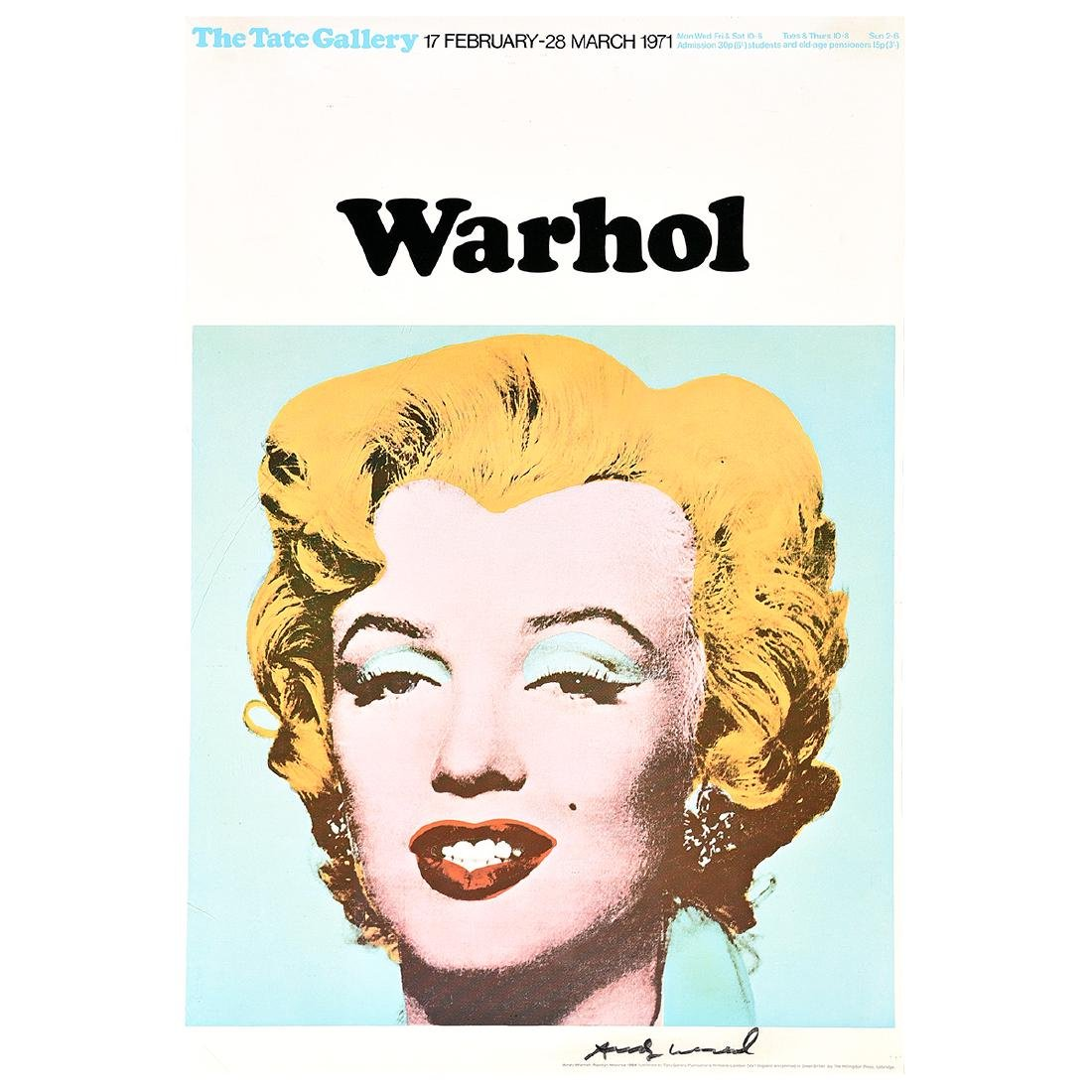 "Andy Warhol ""Marilyn (Exhibition poster for Warhol: The"