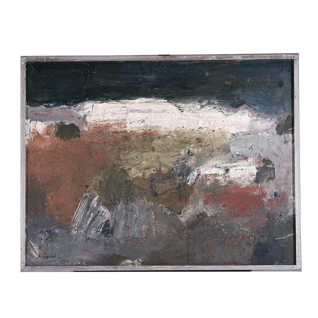 "Louis Siegriest ""59 Abstract"" oil on canvas - 4"