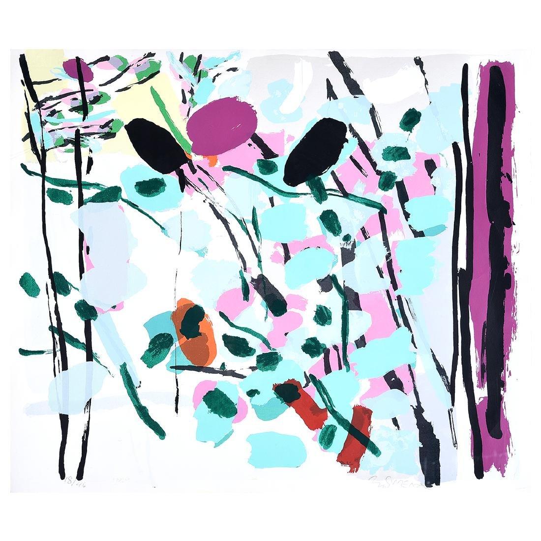 """Bo Swensson """"Untitled"""" silkscreen Contemporary American"""
