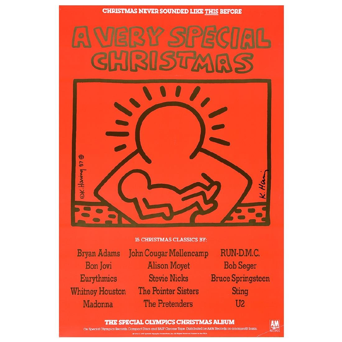 "Keith Haring ""A Very Special Christmas"" offset litho."