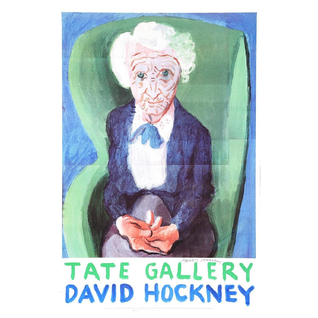 "David Hockney ""Tate Gallery: Exhibition Poster"" offset"