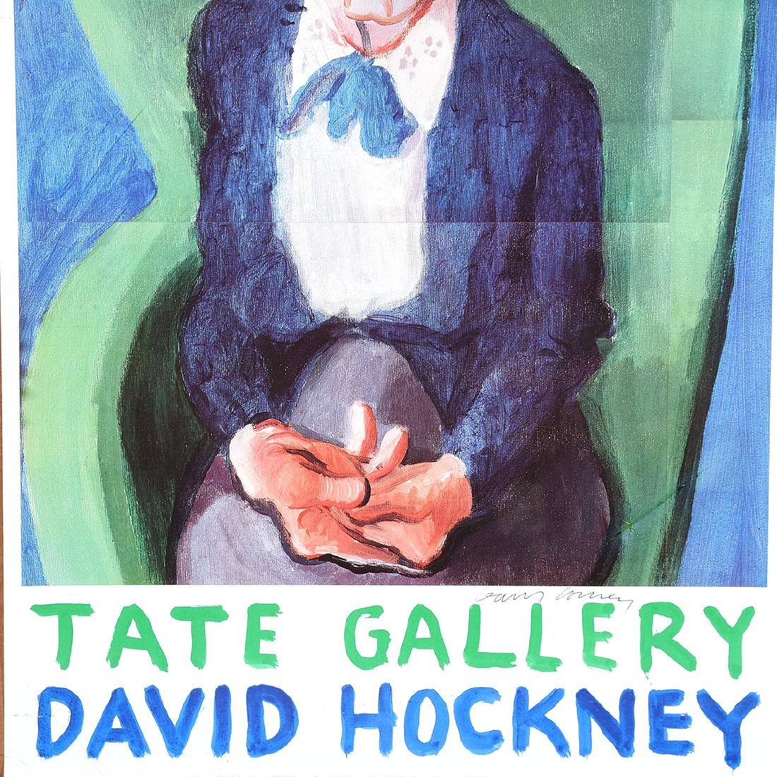 "David Hockney ""Tate Gallery: Exhibition Poster"" offset - 4"