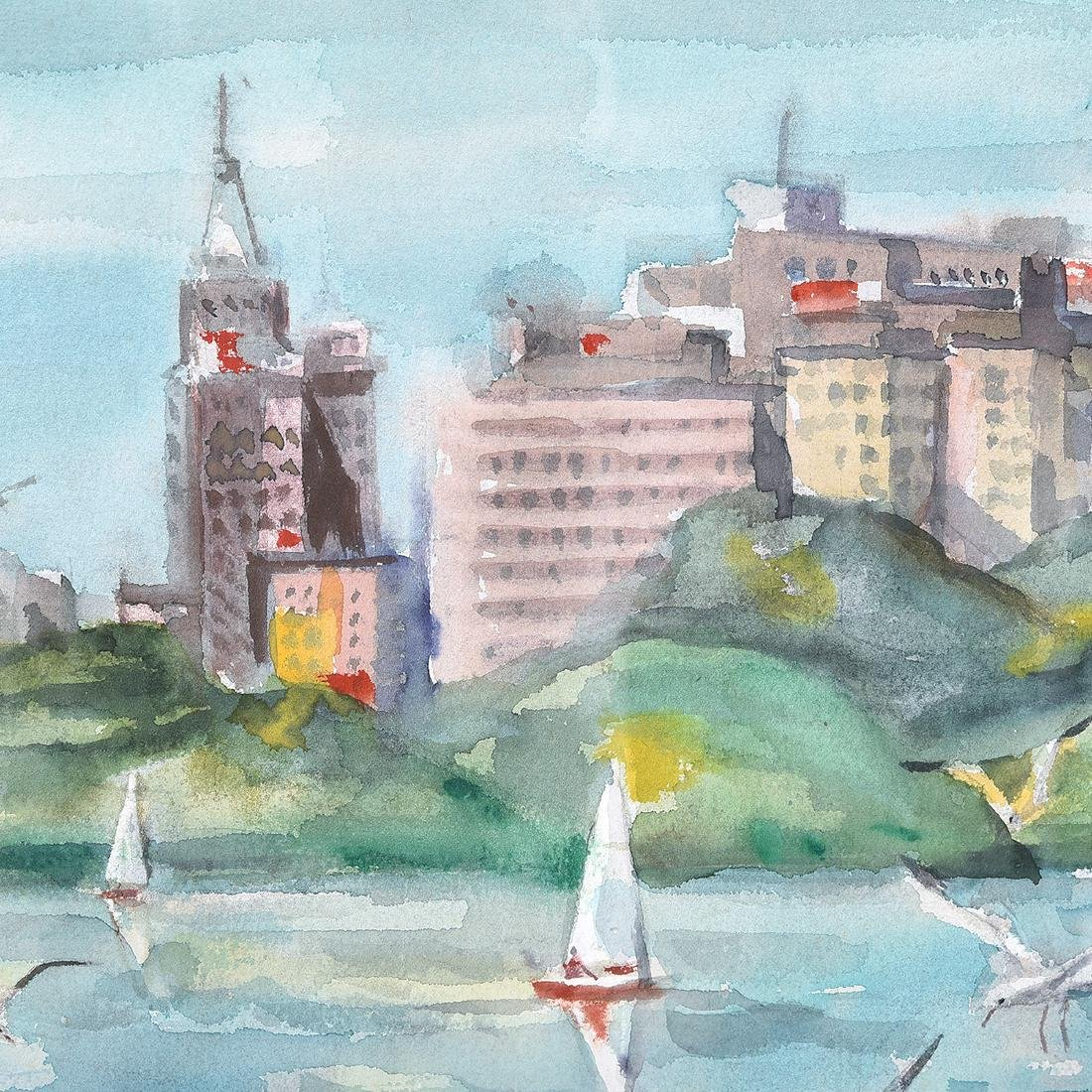 "Jade Fon ""Lake Merritt, Oakland"" watercolor - 3"