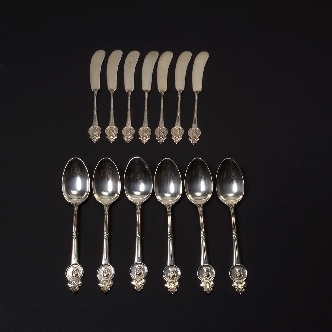 Gorham Medallion Sterling Flatware Set (111 pcs) - 10