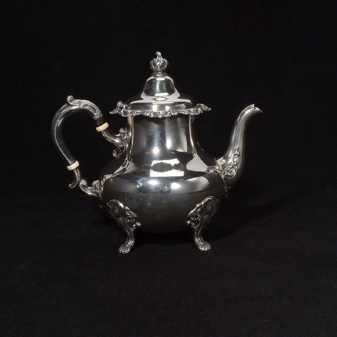 Gorham Strasburg Sterling Five Piece Tea Service. - 2