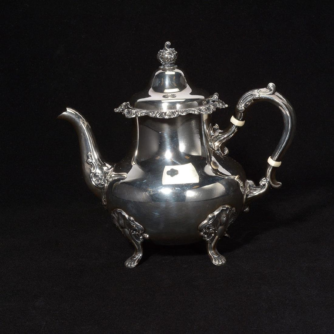 Gorham Strasburg Sterling Five Piece Tea Service. - 8