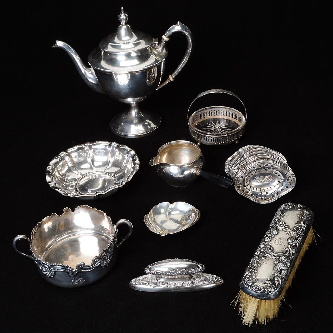Eighteen Sterling Silver Table Items.