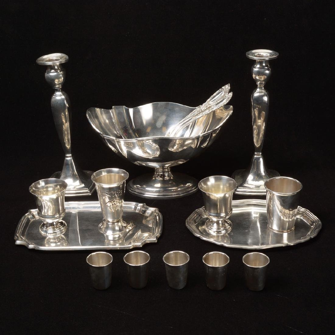 Large Grouping of Sterling Table Articles.