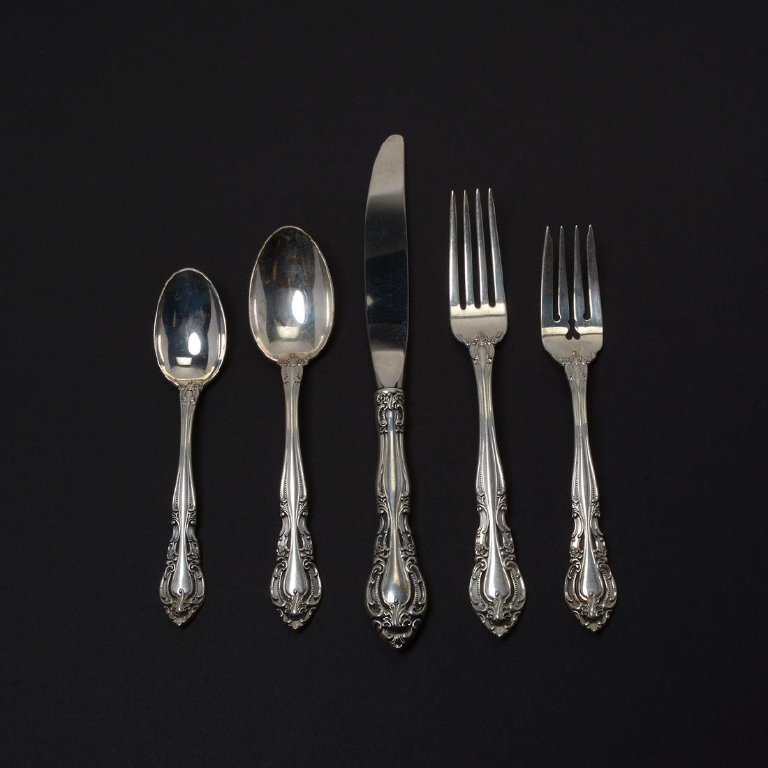Alvin-Vivaldi Sterling Flatware Service (50 Pieces)