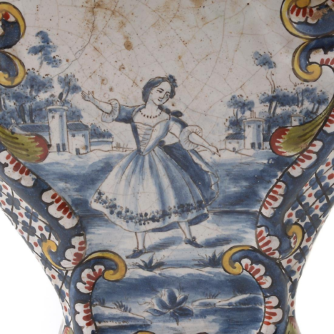 Pair of Delft Ware Jars Mounted as Lamps - 2