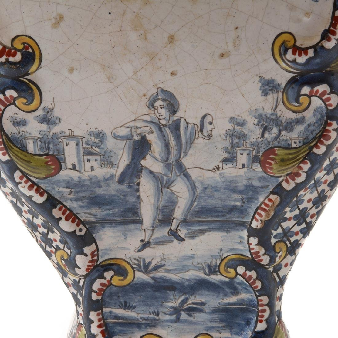 Pair of Delft Ware Jars Mounted as Lamps - 3