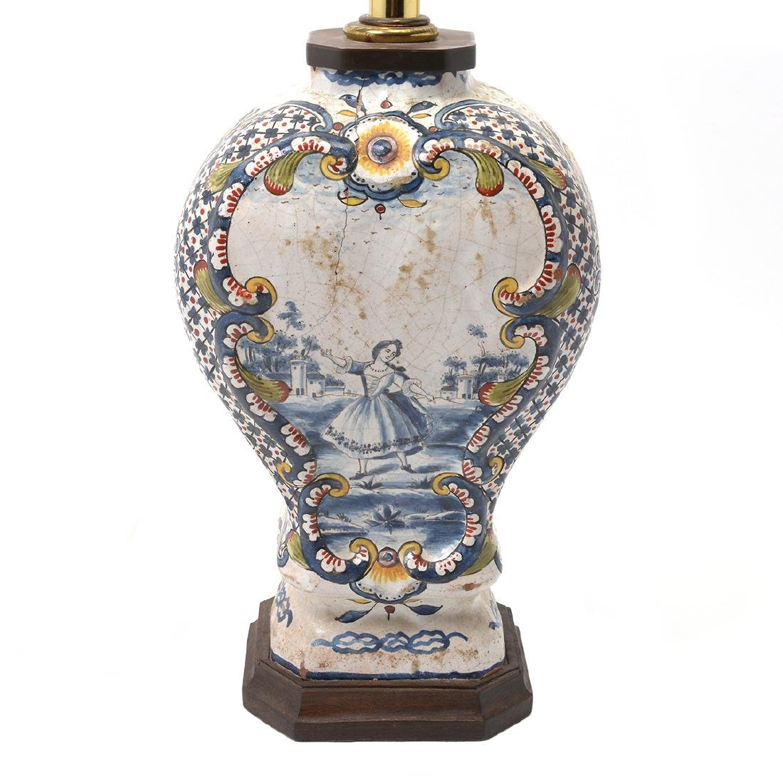 Pair of Delft Ware Jars Mounted as Lamps - 4