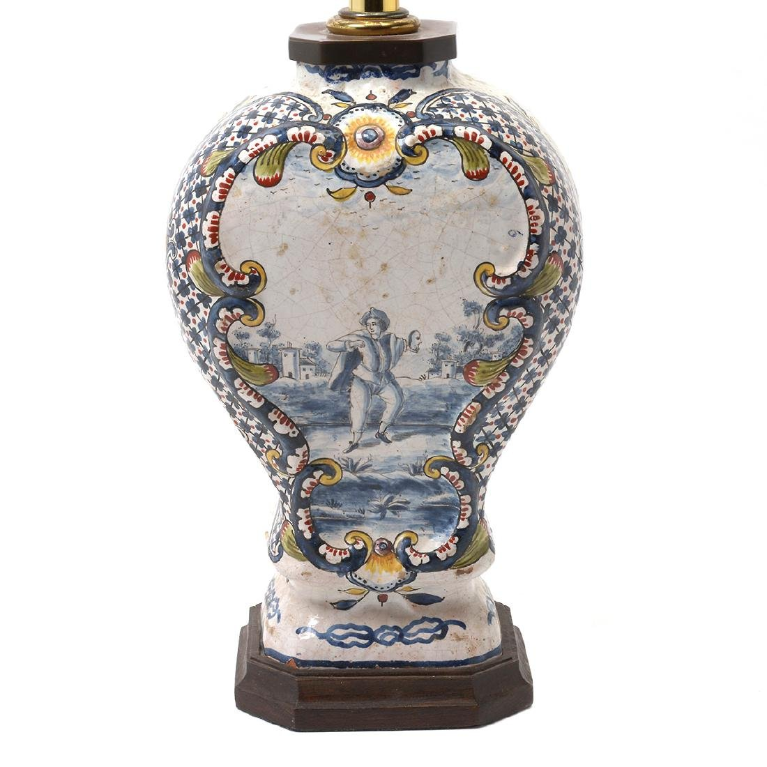 Pair of Delft Ware Jars Mounted as Lamps - 5