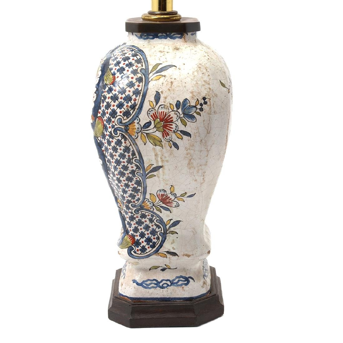Pair of Delft Ware Jars Mounted as Lamps - 6