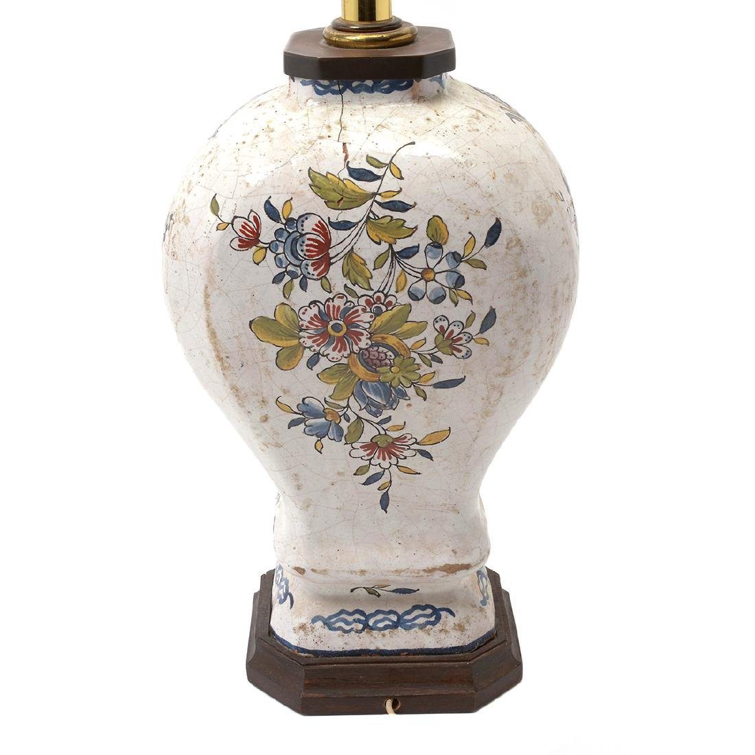 Pair of Delft Ware Jars Mounted as Lamps - 7
