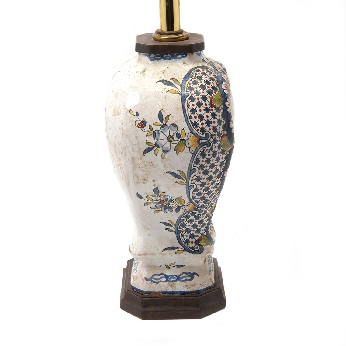Pair of Delft Ware Jars Mounted as Lamps - 8