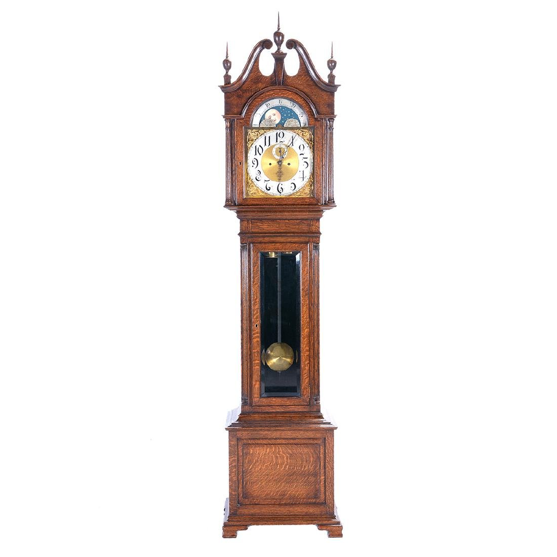 Georgian Oak Tall Case Clock