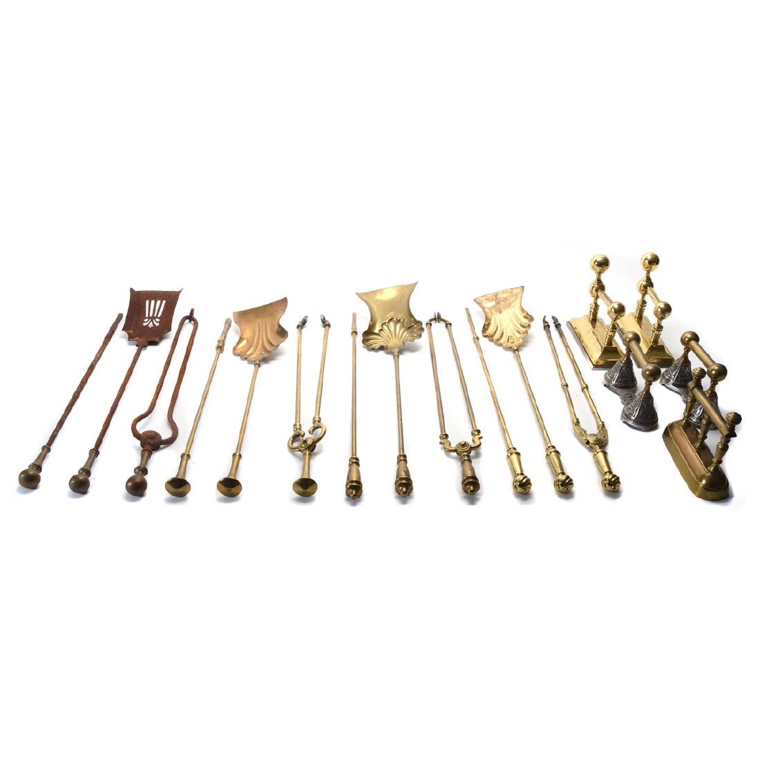 Large group of 18th/19th century fire tools (1979)