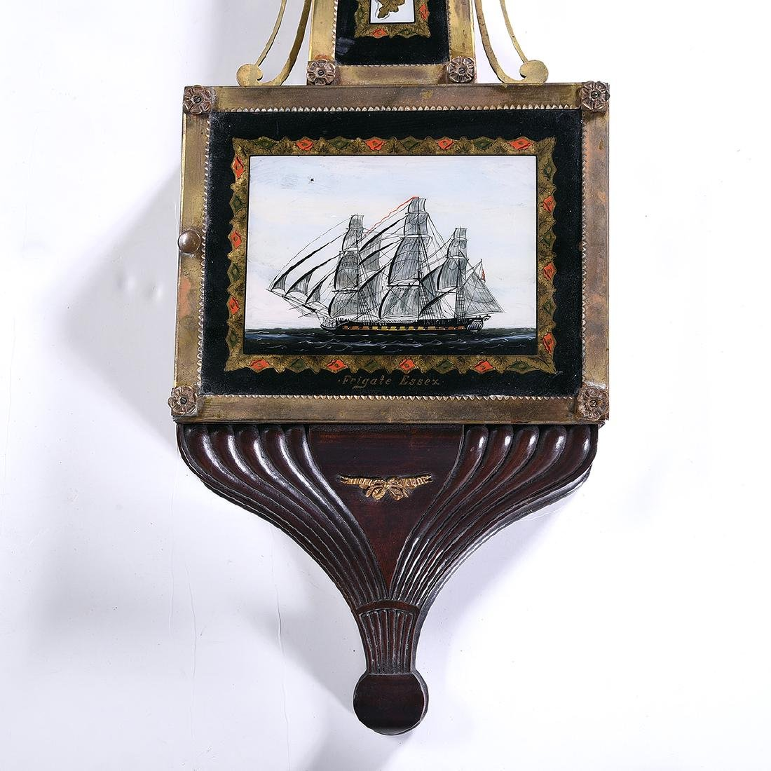 New England Banjo Clock, Inlaid with Gilt Eglomise - 2