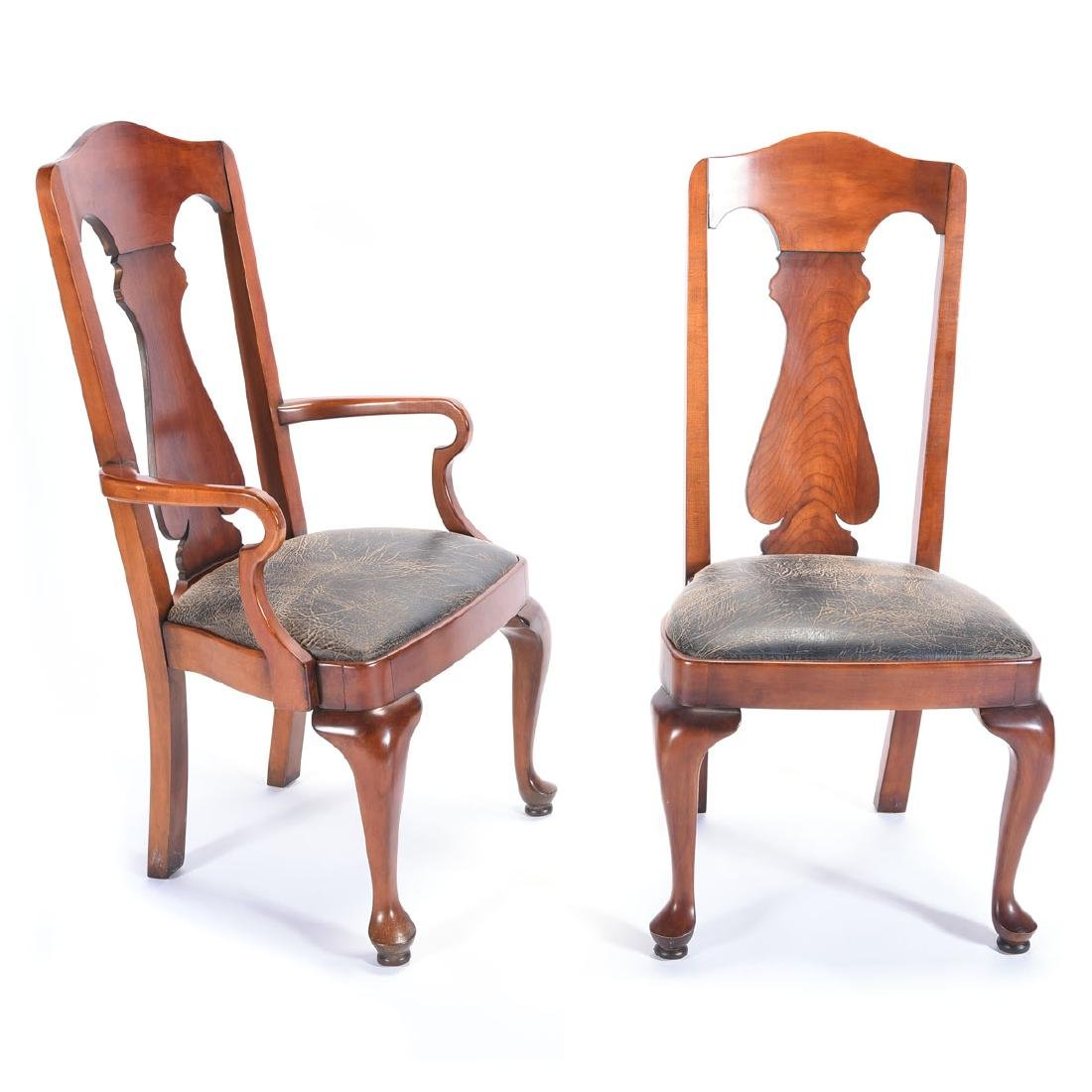 Six Ralph Lauren For Henredon Fiddleback Dining Chairs