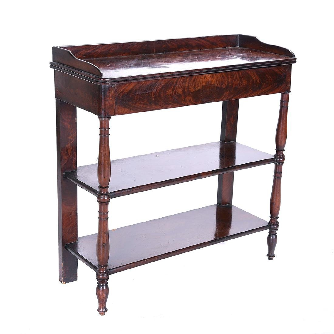 Late William IV Mahogany Two Tier Etagere Table - 2
