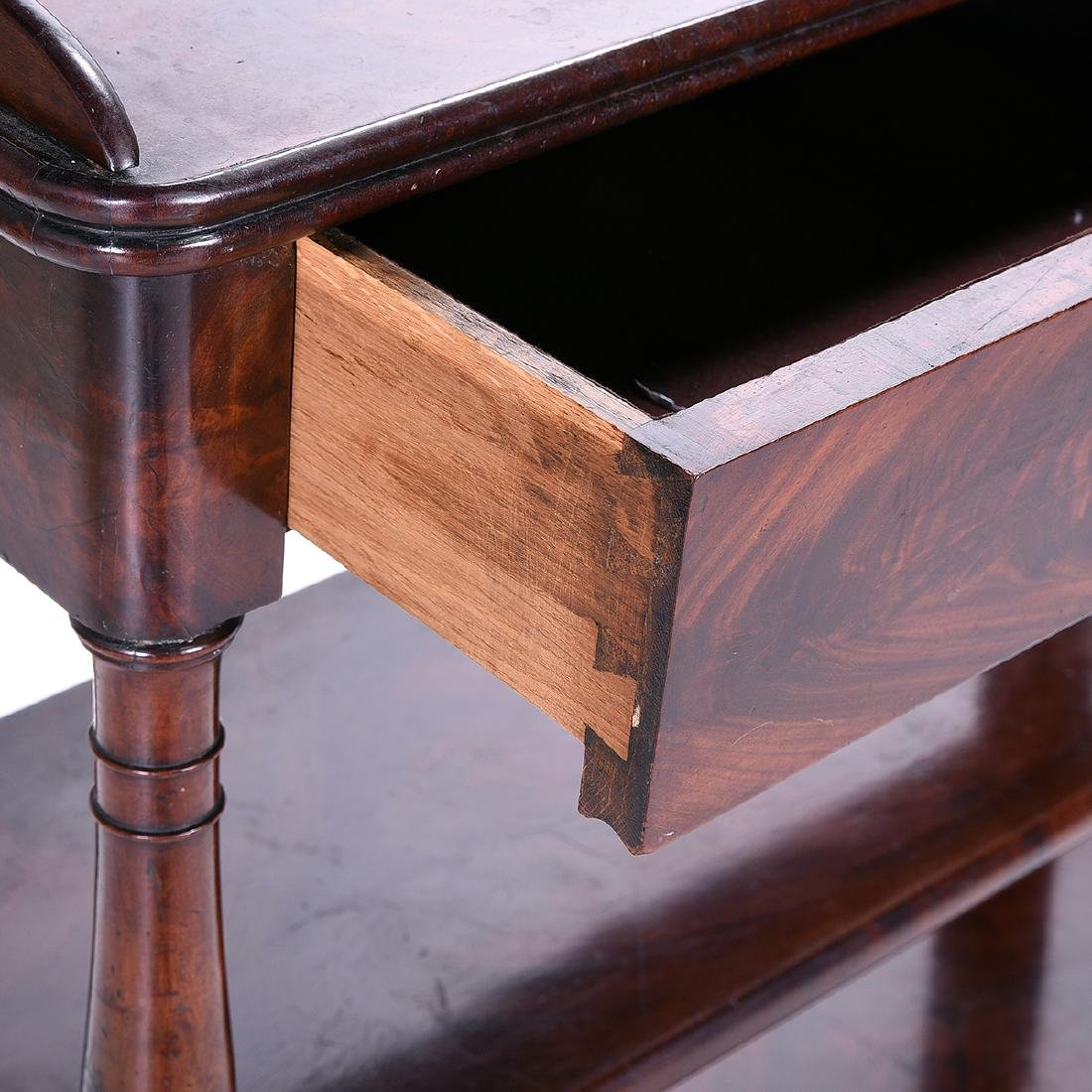 Late William IV Mahogany Two Tier Etagere Table - 3