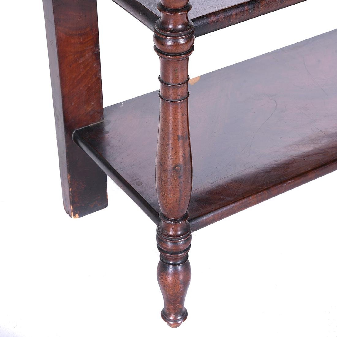 Late William IV Mahogany Two Tier Etagere Table - 4
