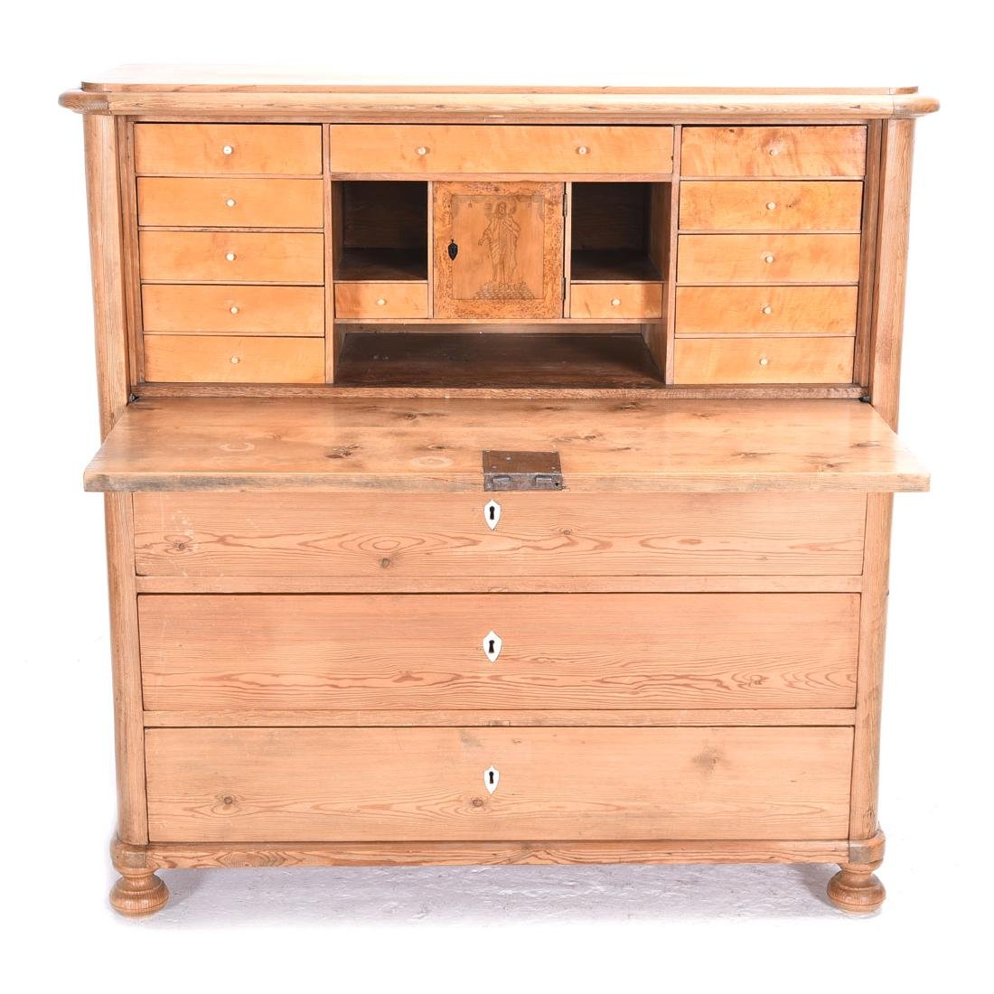 British Pine Secretary with Drop Front.