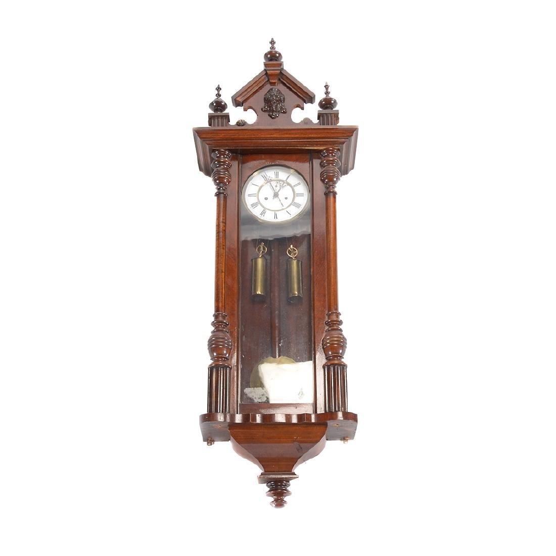 Renaissance Revival Walnut Cased Regulator Clock
