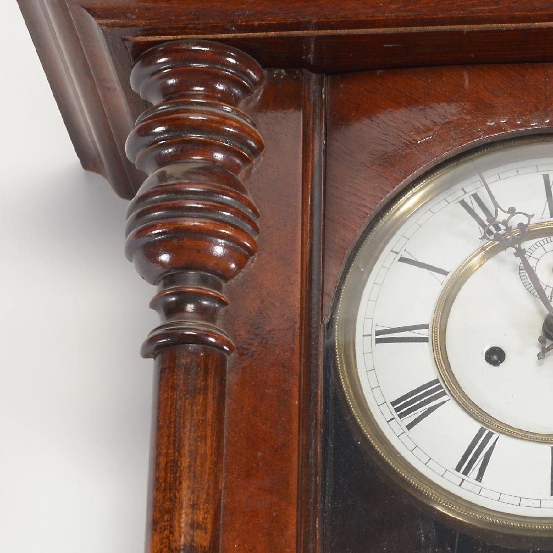 Renaissance Revival Walnut Cased Regulator Clock - 2