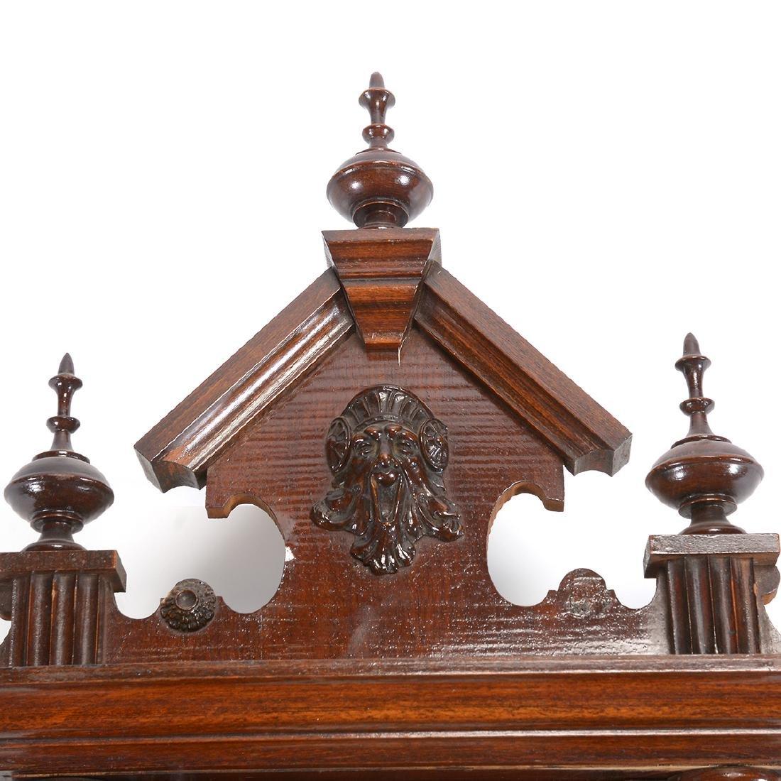 Renaissance Revival Walnut Cased Regulator Clock - 3