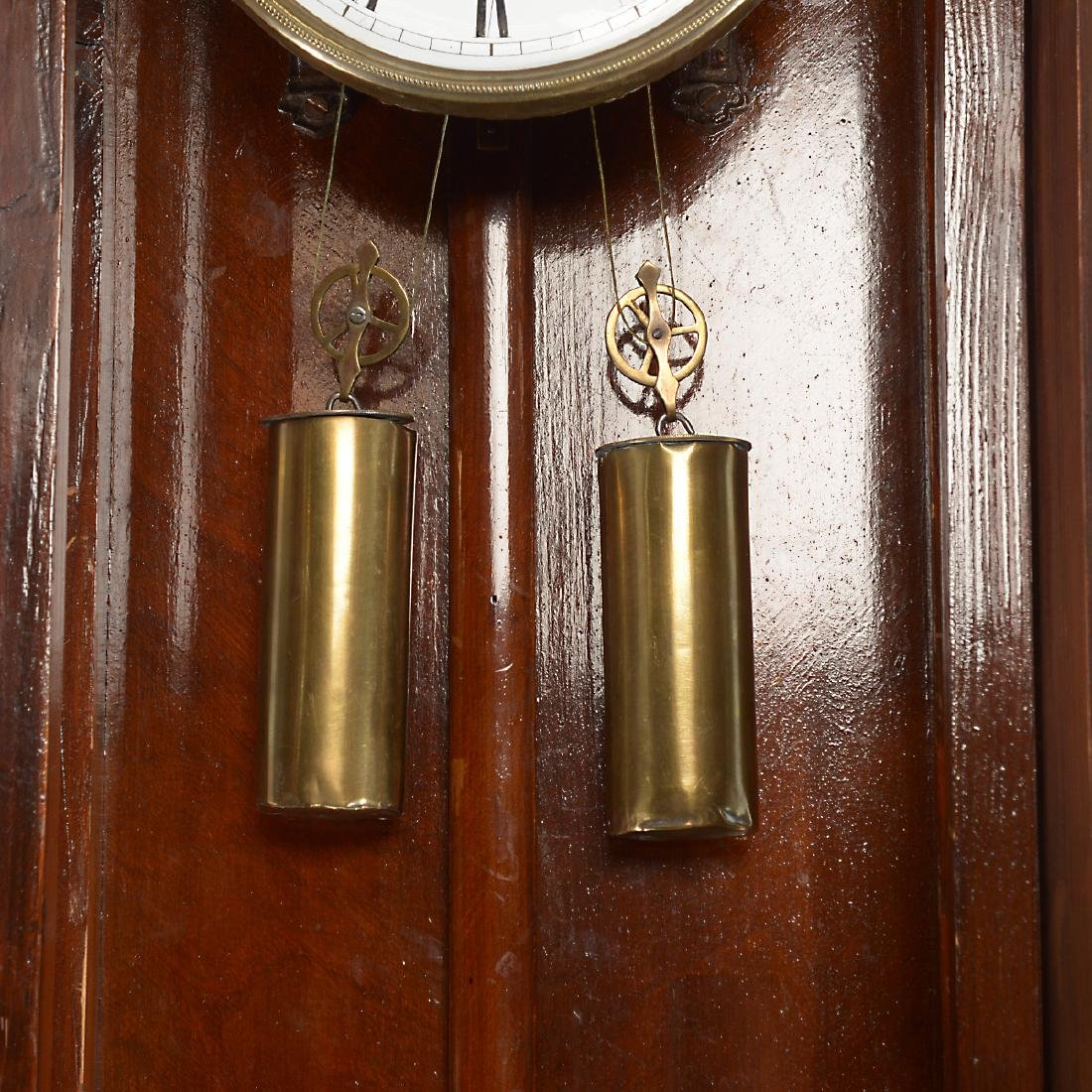 Renaissance Revival Walnut Cased Regulator Clock - 5