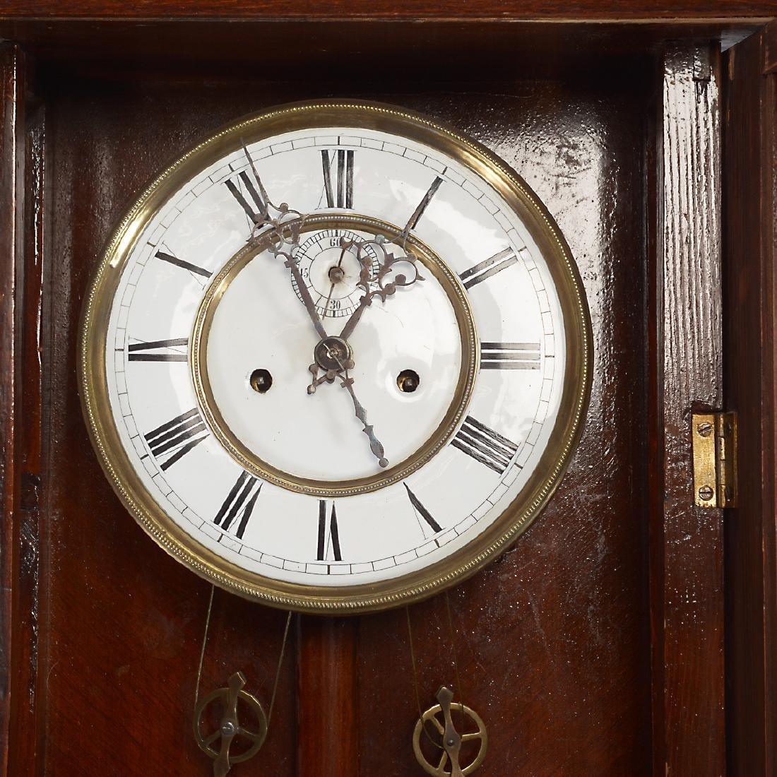 Renaissance Revival Walnut Cased Regulator Clock - 6