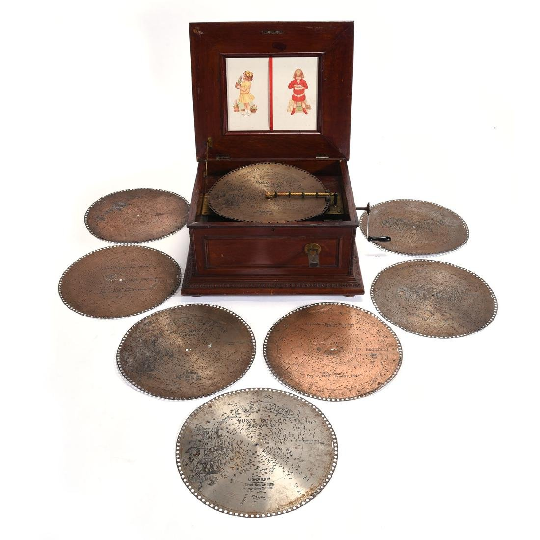 Regina Music Box with 8 Discs