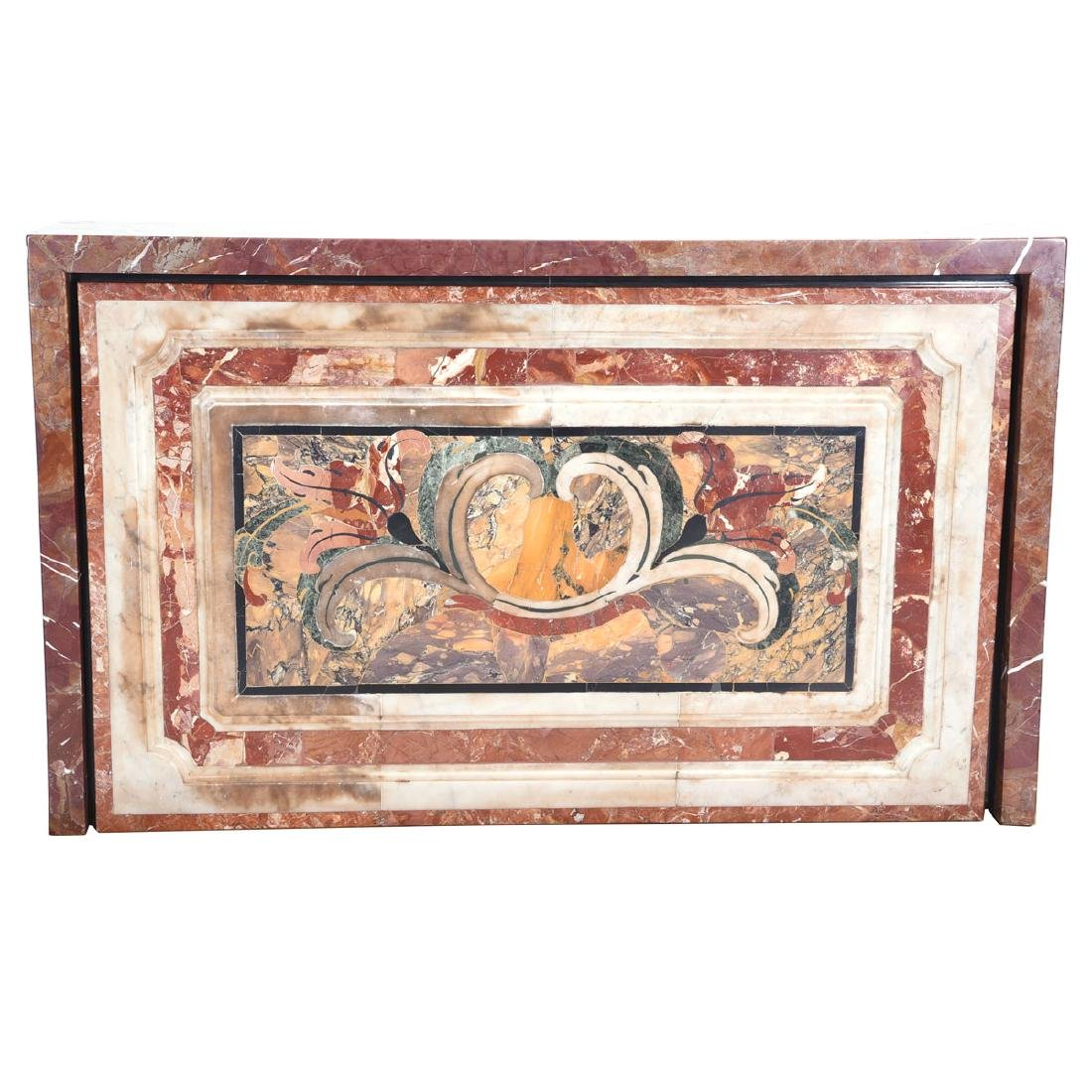 Baroque Style Pietra Dura Marble Altar Base