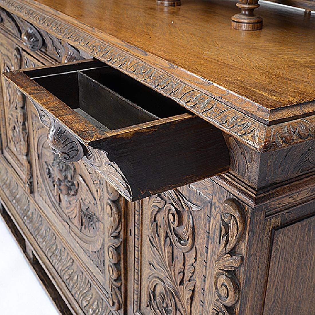 Renaissance Revival Buffet Sideboard - 3