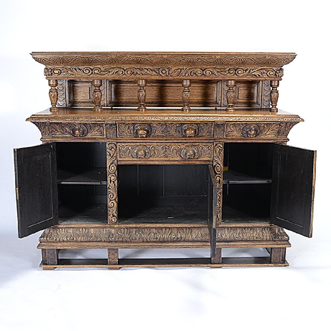 Renaissance Revival Buffet Sideboard - 4
