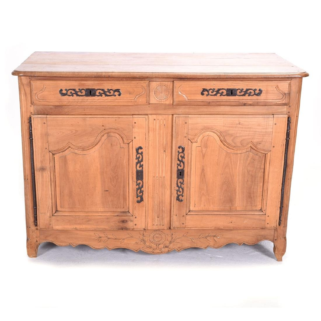 French Provincial Fruitwood Sideboard with Iron and