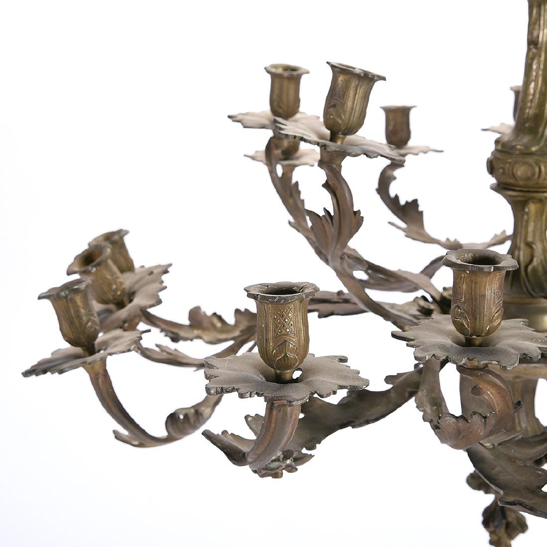 Louis XV Style Gilt Bronze Eighteen Light Chandelier - 3