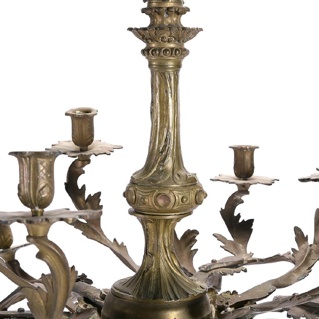 Louis XV Style Gilt Bronze Eighteen Light Chandelier - 4