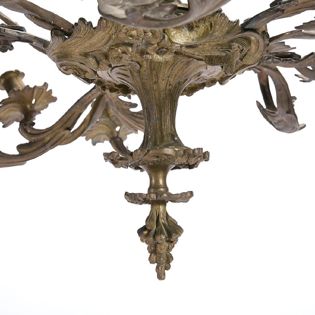 Louis XV Style Gilt Bronze Eighteen Light Chandelier - 5